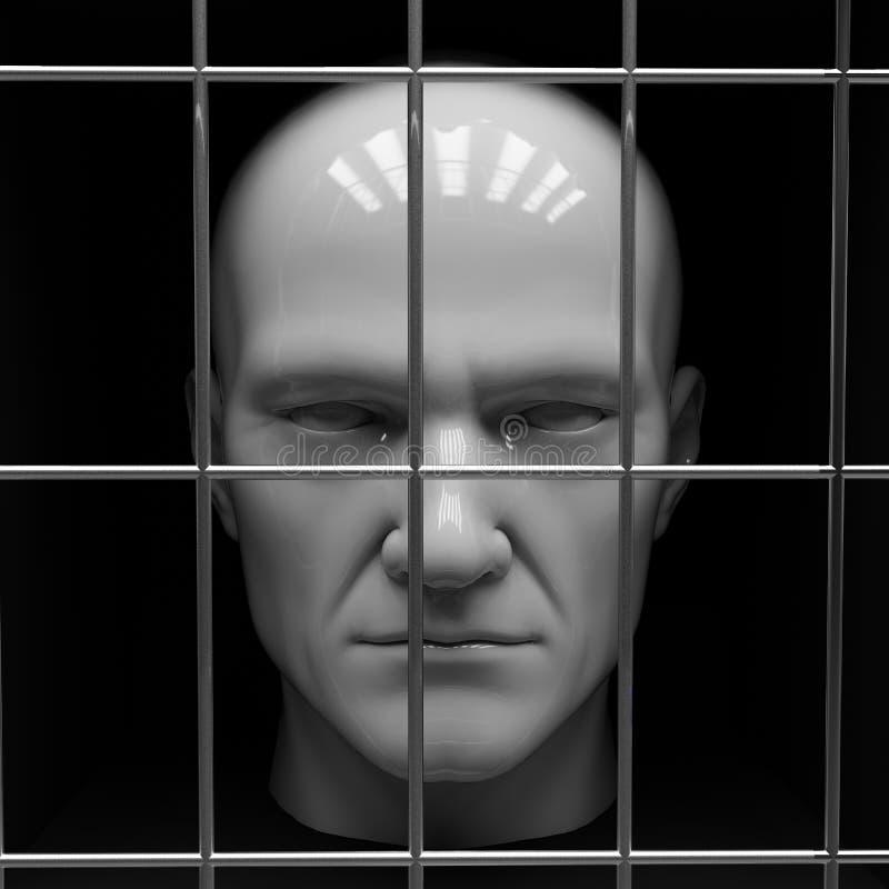 Человек в тюрьме стоковые фотографии rf