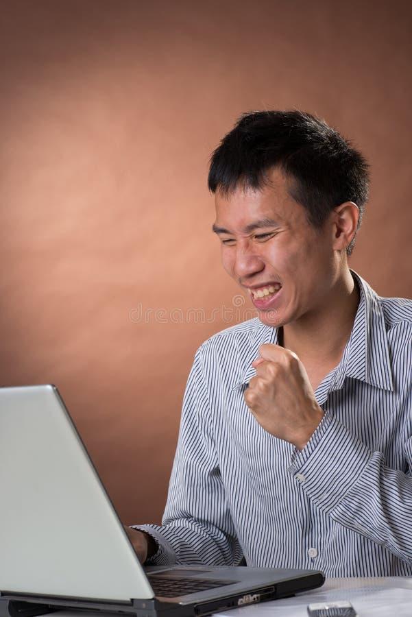 человек дела exciting стоковое изображение rf