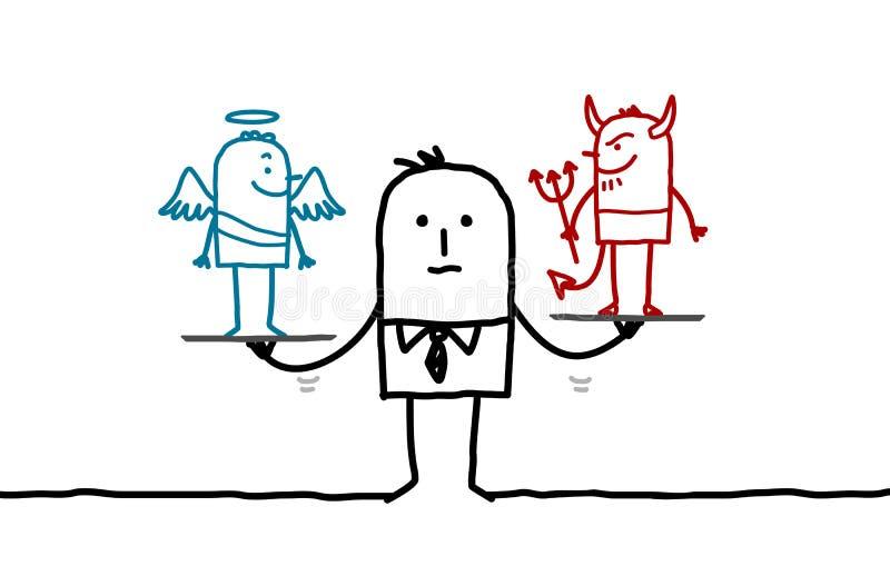 Человек & заманчивость бесплатная иллюстрация