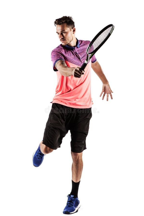 человек играя детенышей тенниса стоковая фотография rf