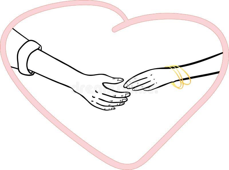 Человек и женщина соединяют руки стоковые изображения