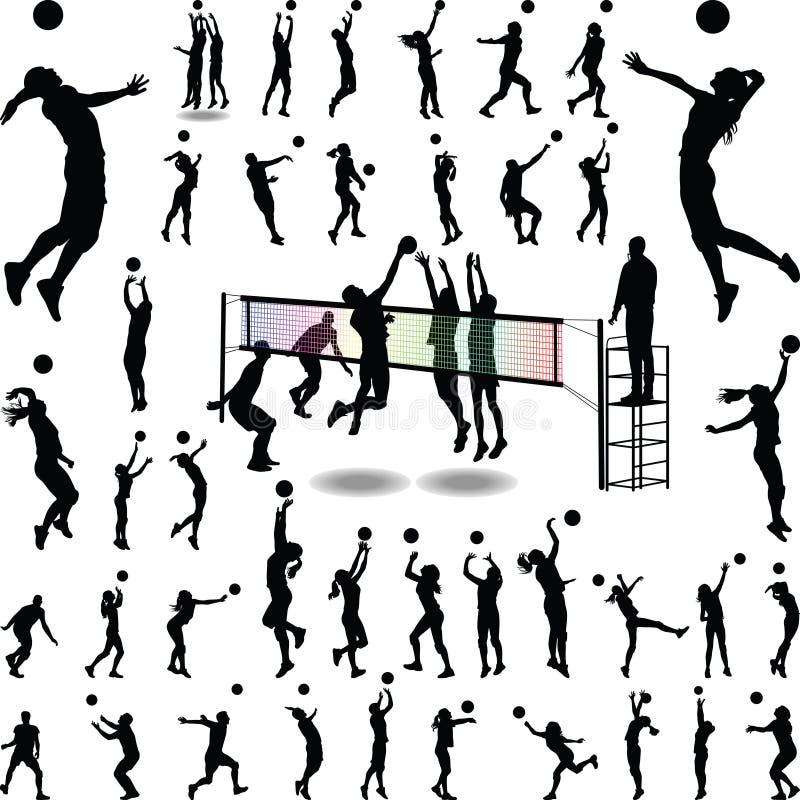 Человек и womam волейбола стоковое фото
