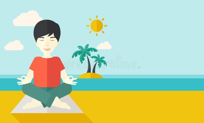 Человек йоги бесплатная иллюстрация