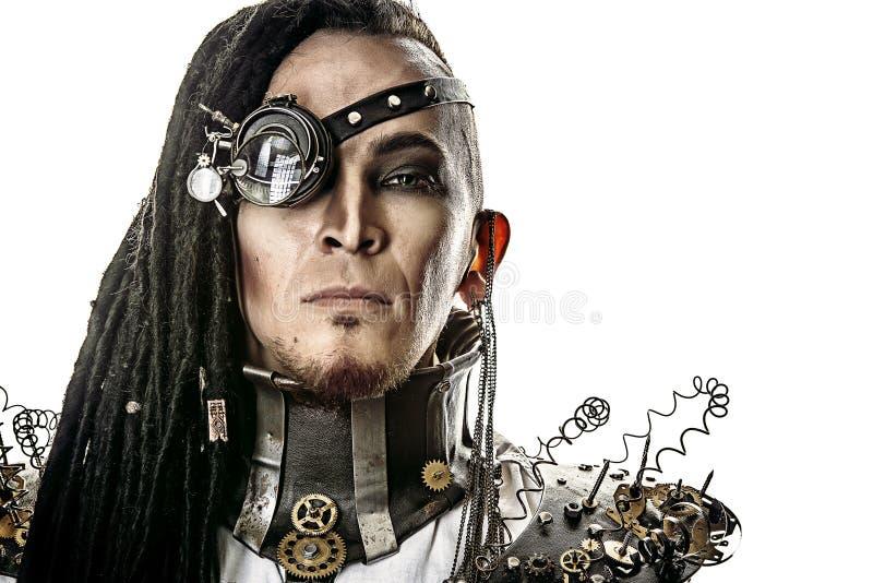 Человек кибер стоковая фотография