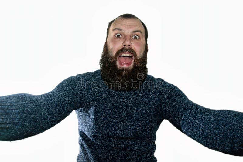 Человек матроса бороды в крышке шляпы стоковые изображения