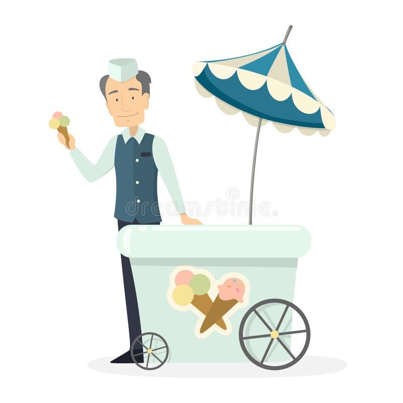Человек мороженого иллюстрация штока
