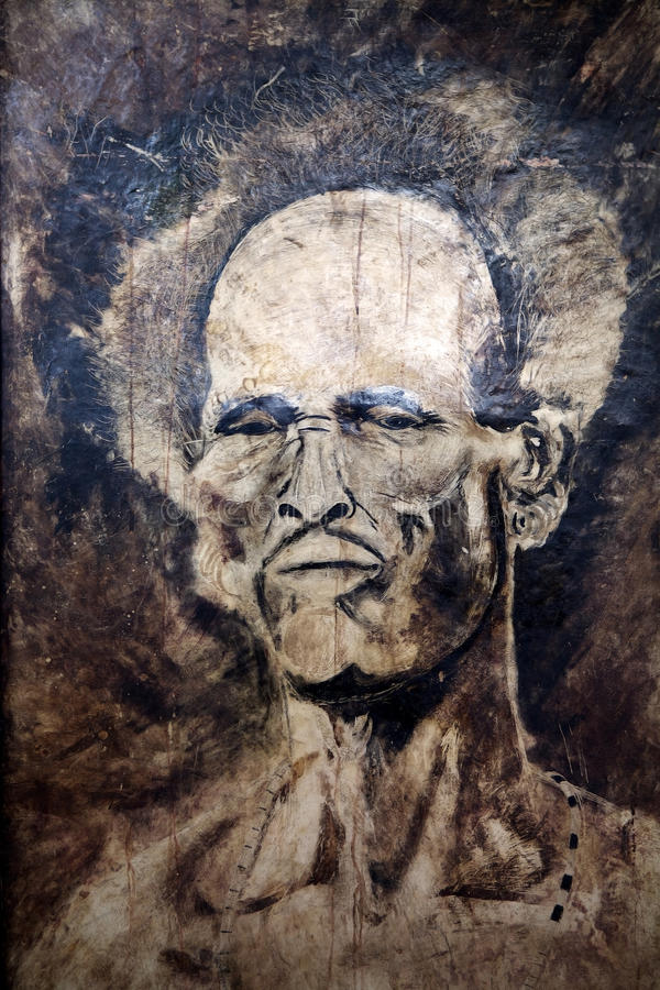 Человек нарисованный рукой африканский иллюстрация вектора