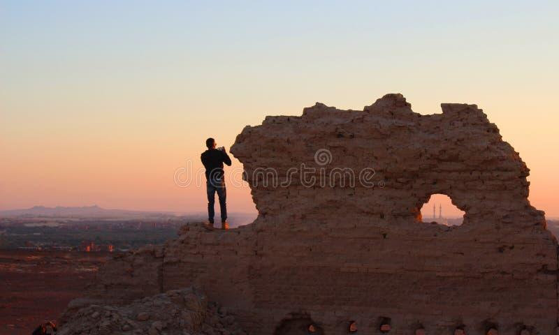 Человек на большом Baldy Ridge стоковое фото rf