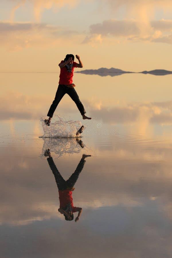 Человек на воде стоковое изображение rf