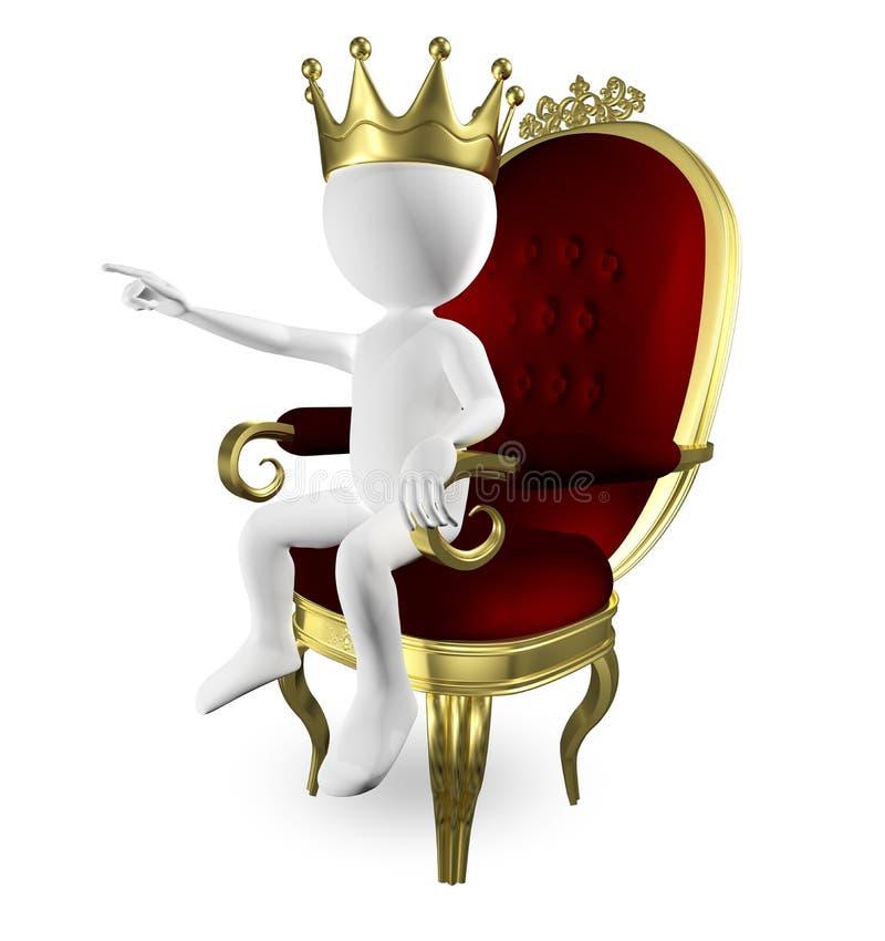 Человек на троне иллюстрация штока