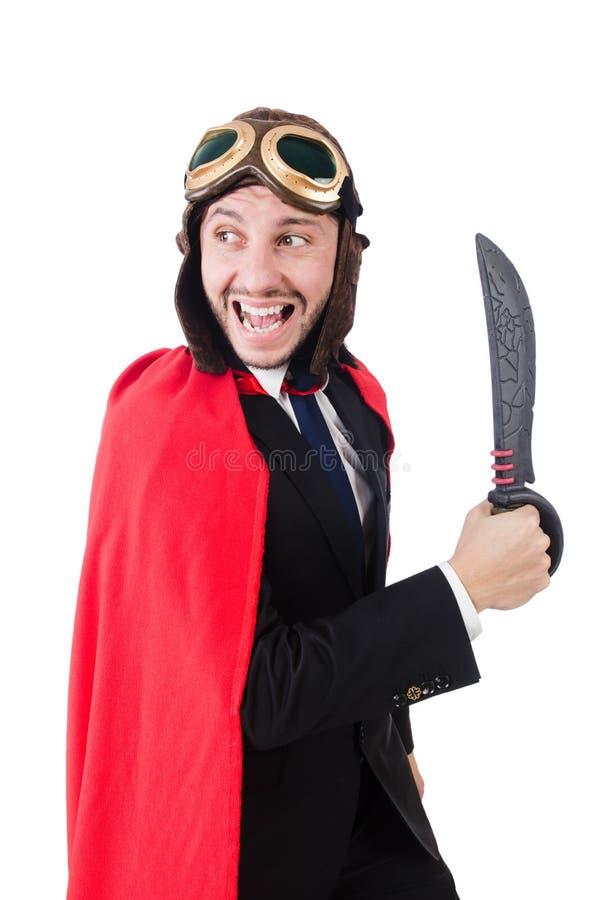 Человек нося красную одежду стоковые изображения rf