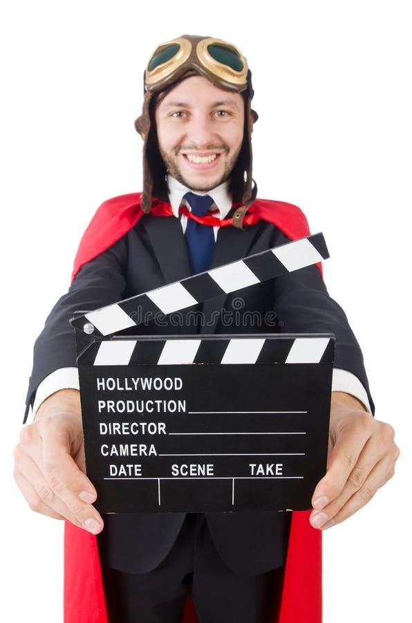 Человек нося красную одежду стоковое фото