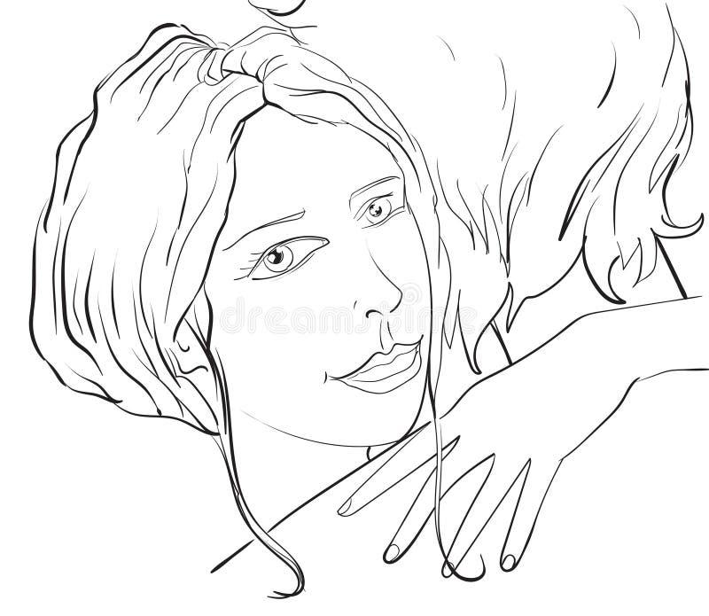 Человек объятия женщины, романтичная пара стоковая фотография