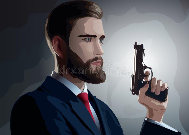 Человек опасности иллюстрация вектора