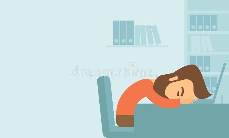 Человек падает уснувший иллюстрация вектора