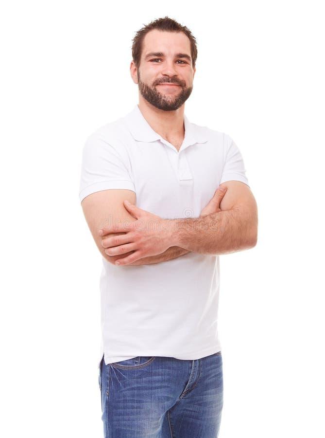 человек пересеченный рукоятками стоковое изображение rf