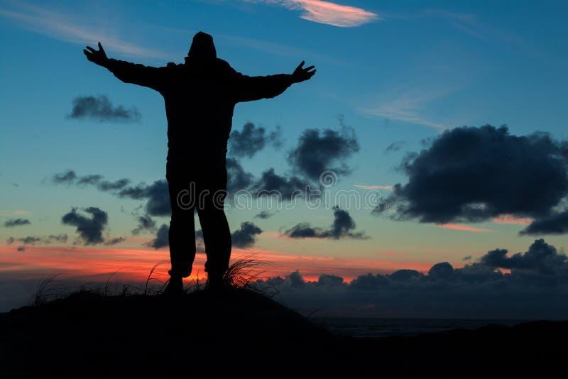 Человек поклонения стоковые фото