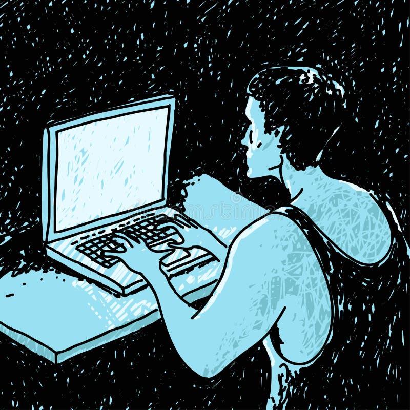 Download Человек потребителя в темноте Иллюстрация вектора - иллюстрации насчитывающей дом, работа: 81814469