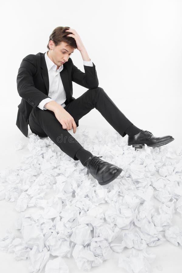 Человек под стрессом стоковое фото