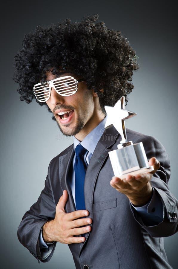 Человек получая его звезду стоковые изображения rf