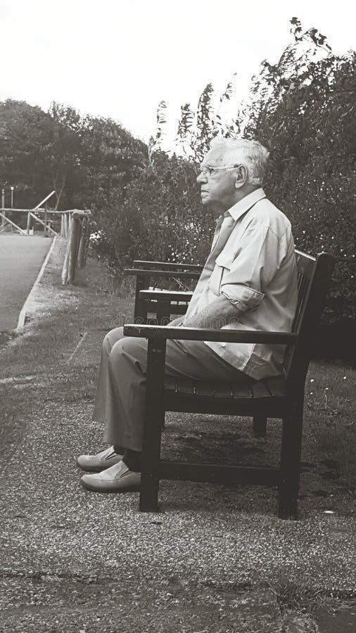 Человек преследующего стоковое фото rf