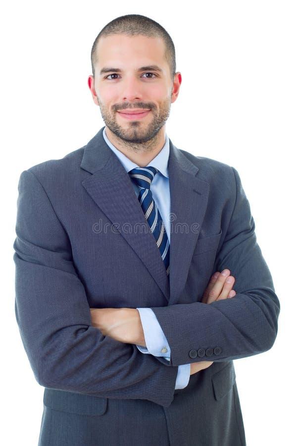 человек предпосылки изолированный делом над белизной стоковые изображения