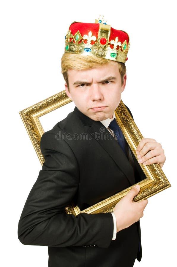 Человек при изолированная картинная рамка стоковое фото