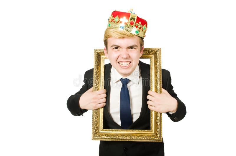 Человек при изолированная картинная рамка стоковая фотография rf
