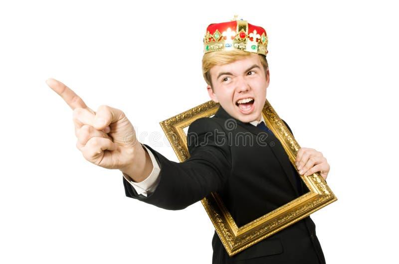 Человек при изолированная картинная рамка стоковые фотографии rf