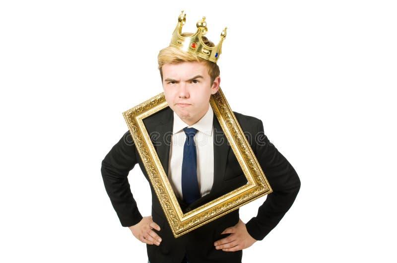 Человек при изолированная картинная рамка стоковые изображения