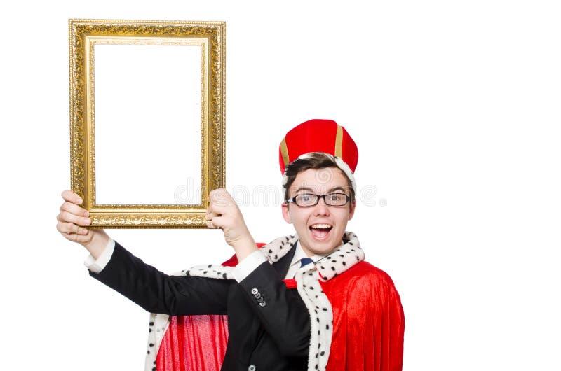 Человек при изолированная картинная рамка стоковое изображение rf