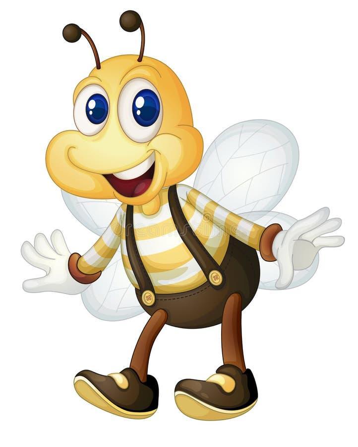 Человек пчелы иллюстрация штока
