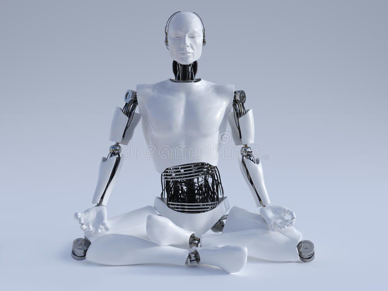 Человек робота размышляя nr 1 бесплатная иллюстрация