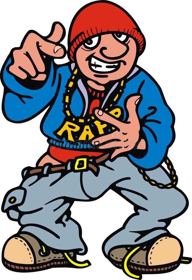 Человек рэпа детенышей (тазобедренного хмеля) бесплатная иллюстрация