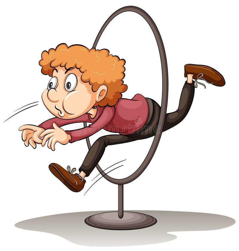 Человек скача через обруч бесплатная иллюстрация