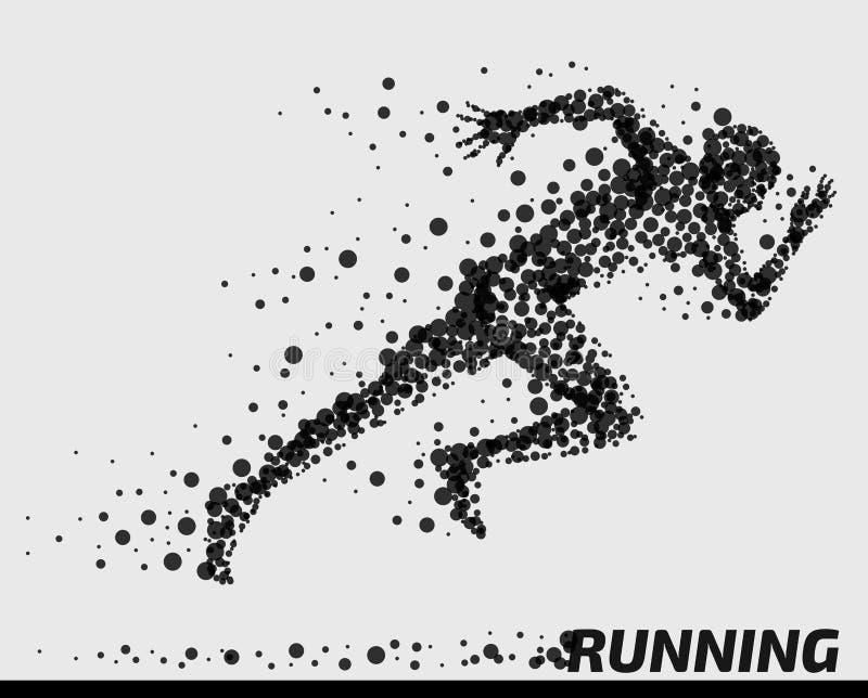 Человек/спортсмен абстрактной частицы идущий бесплатная иллюстрация