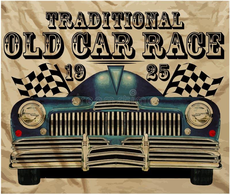 Человек старого американского автомобиля винтажный классический ретро бесплатная иллюстрация