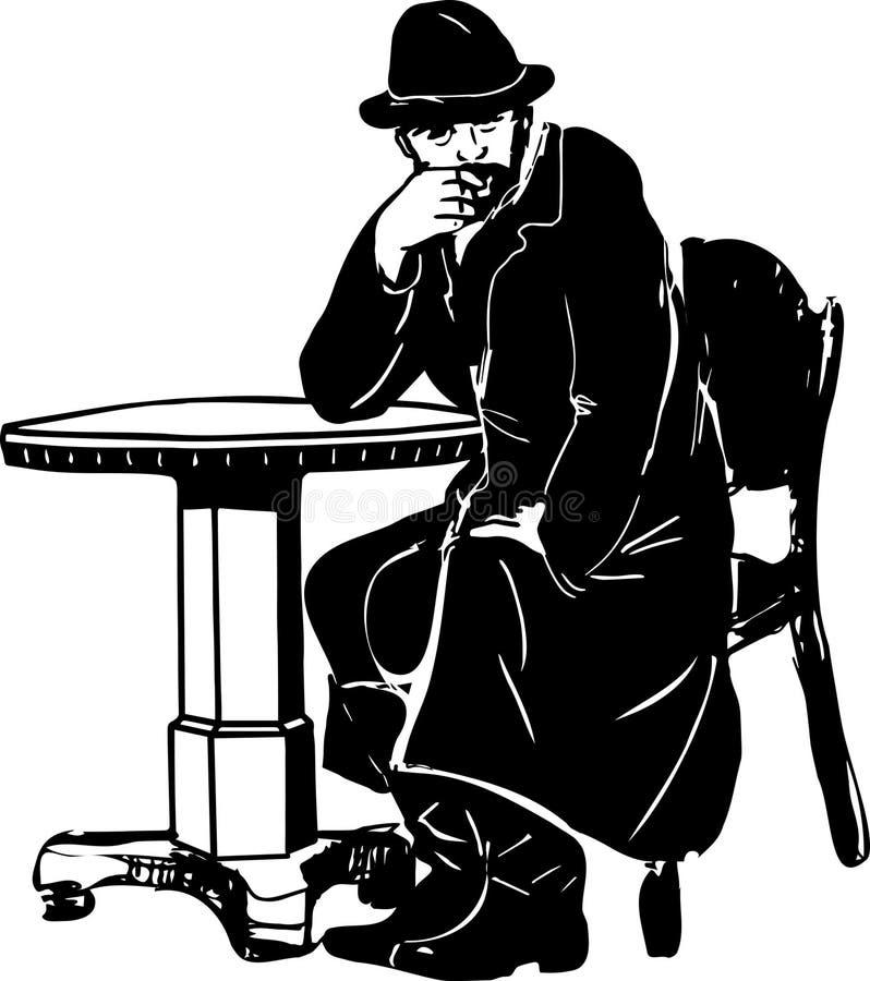 Человек с бородой на таблице бесплатная иллюстрация
