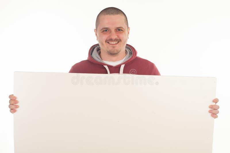 Человек с знаменем стоковое фото rf