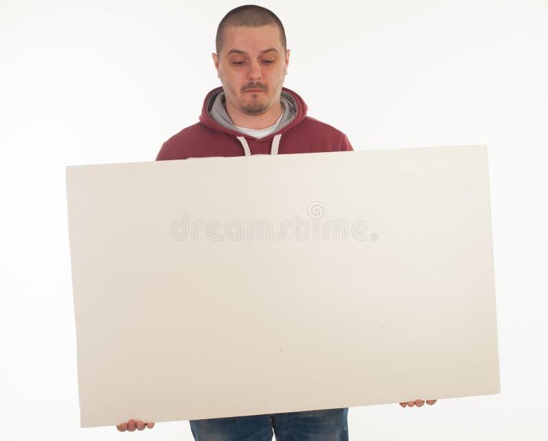 Человек с знаменем стоковая фотография rf