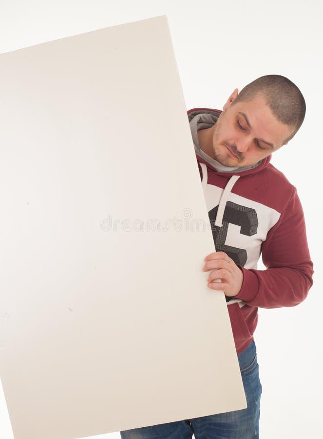Человек с знаменем стоковая фотография