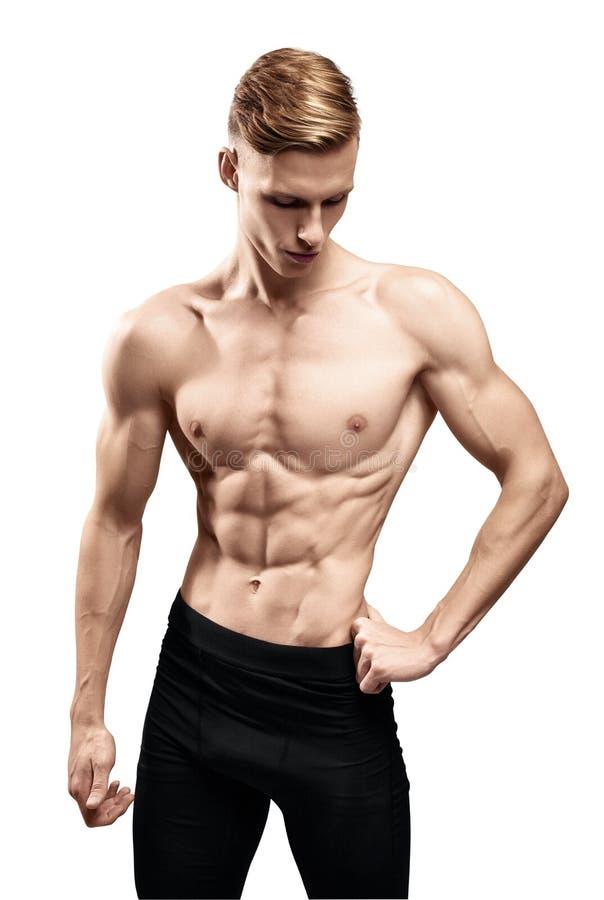 Человек с мышечным торсом стоковое фото rf