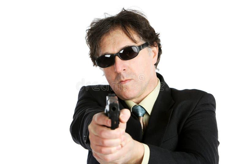 Человек с оружием стоковая фотография rf