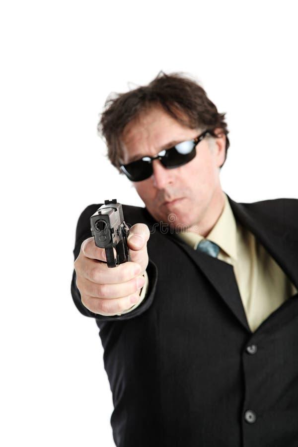 Человек с оружием стоковое изображение rf