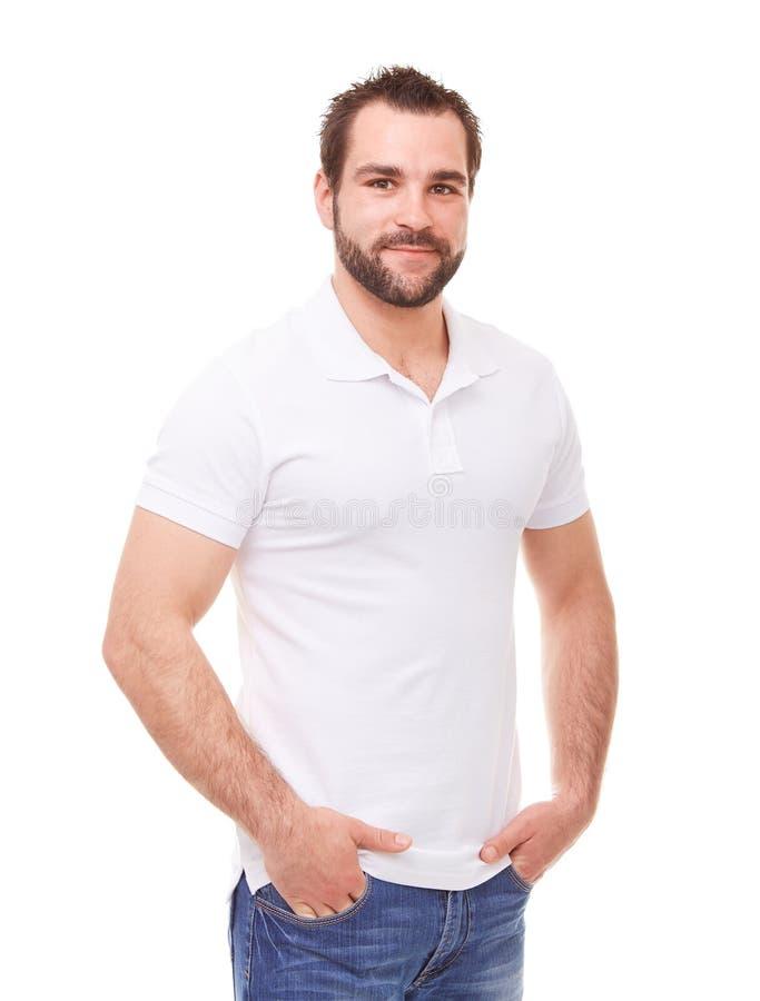 Человек с руками в карманн стоковые фото