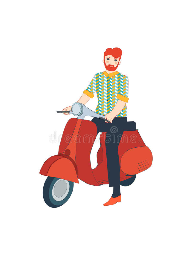Человек с самокатом стоковые фото