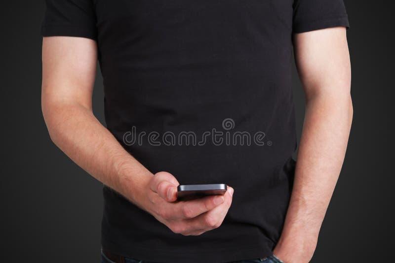 Download Человек с телефоном стоковое фото. изображение насчитывающей дисплей - 37927140