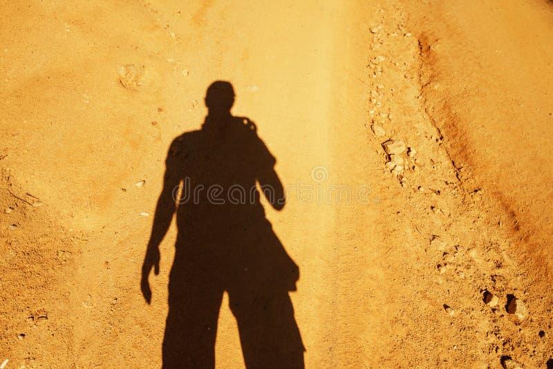 Человек тени стоковое фото rf