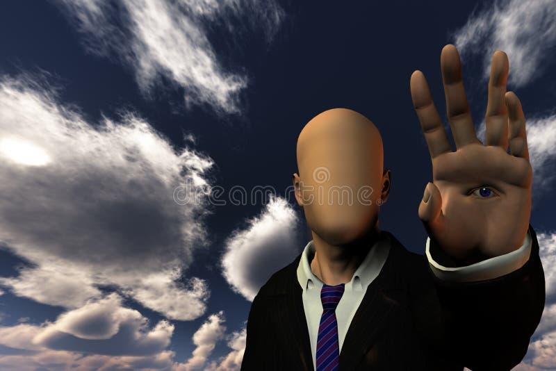Человек фантазии иллюстрация штока