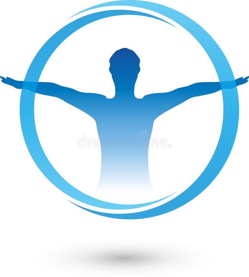Человек, фитнес, здоровье иллюстрация вектора